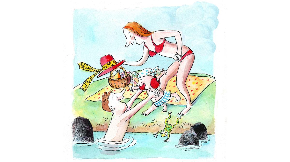 4 jeux pour apprivoiser l'eau. Illustrations Anne Wilsdorf