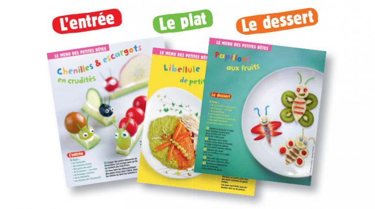Le menu des petites bêtes : trois recettes pour bébé