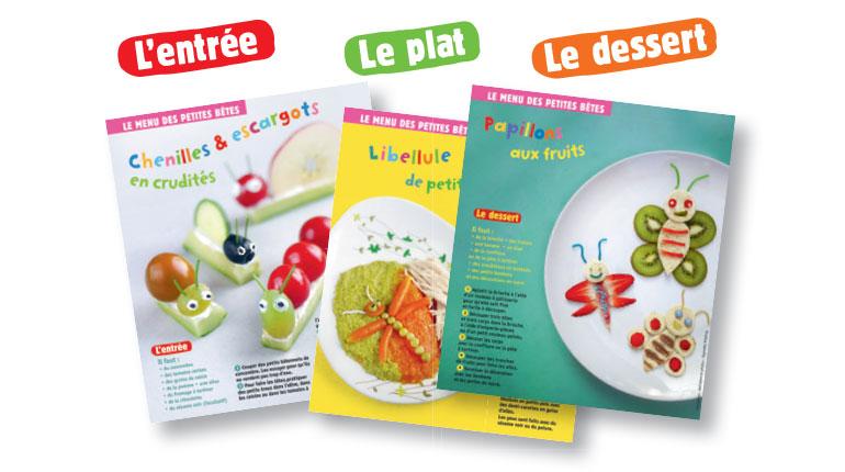 Le menu des petites bêtes : trois recettes pour bébé. Photos : Raphaële Vidaling