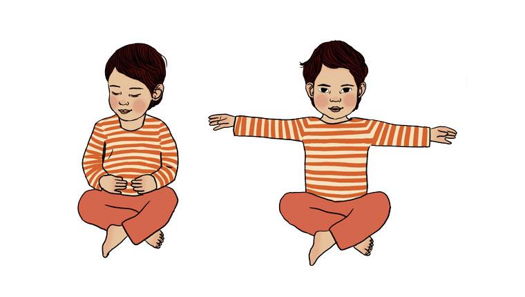 Yoga : 3 exercices pour les tout-petits. Illustrations : Ilya Green