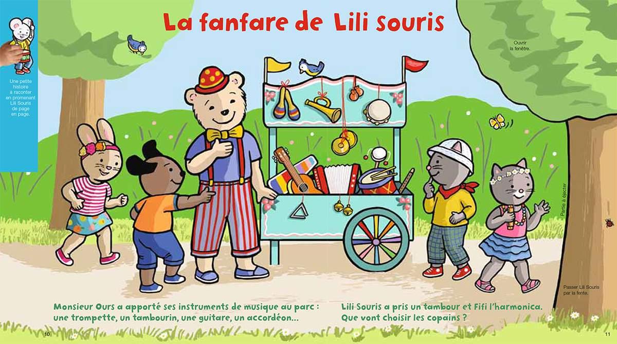 Téléchargez Lili Souris à la fanfare. Illustration : Anett Hardy