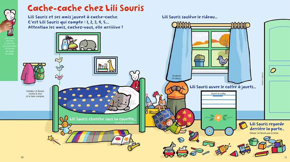 Téléchargez Lili Souris pour jouer à cache-cache. Illustration : Anett Hardy