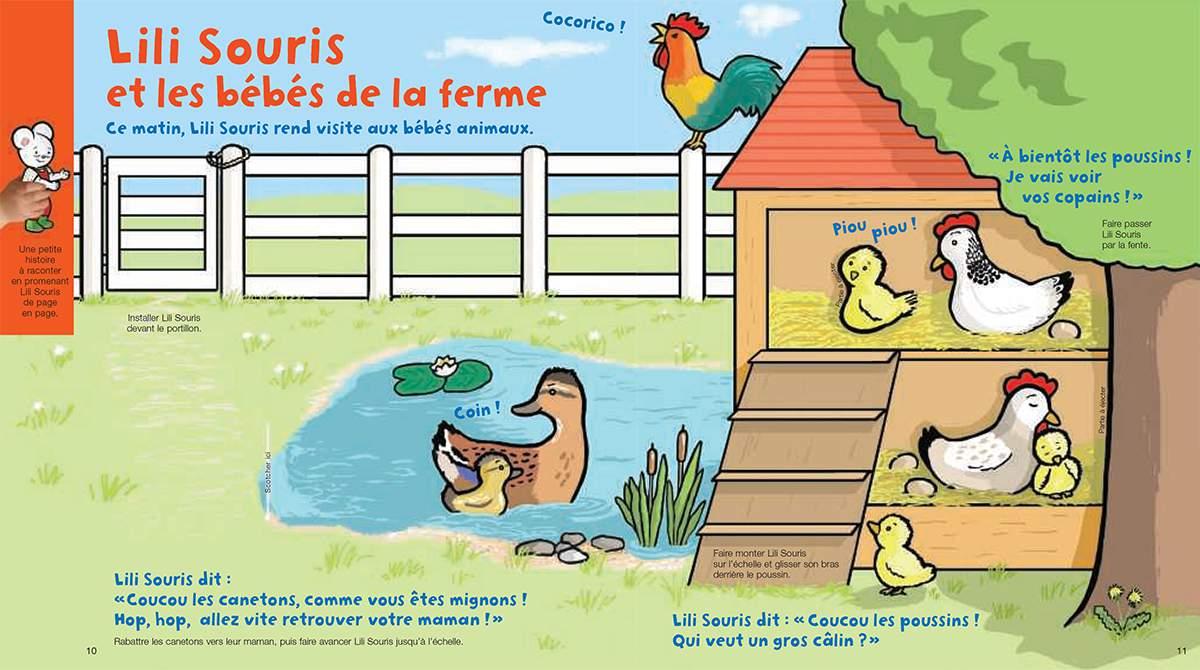 Téléchargez Lili Souris et les bébés de la ferme. Illustration : Anett Hardy