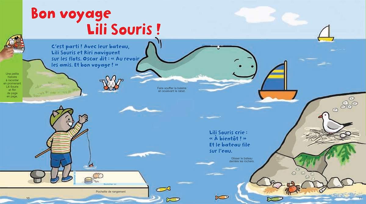 Téléchargez Lili Souris et Riri font du bateau. Illustration : Anett Hardy