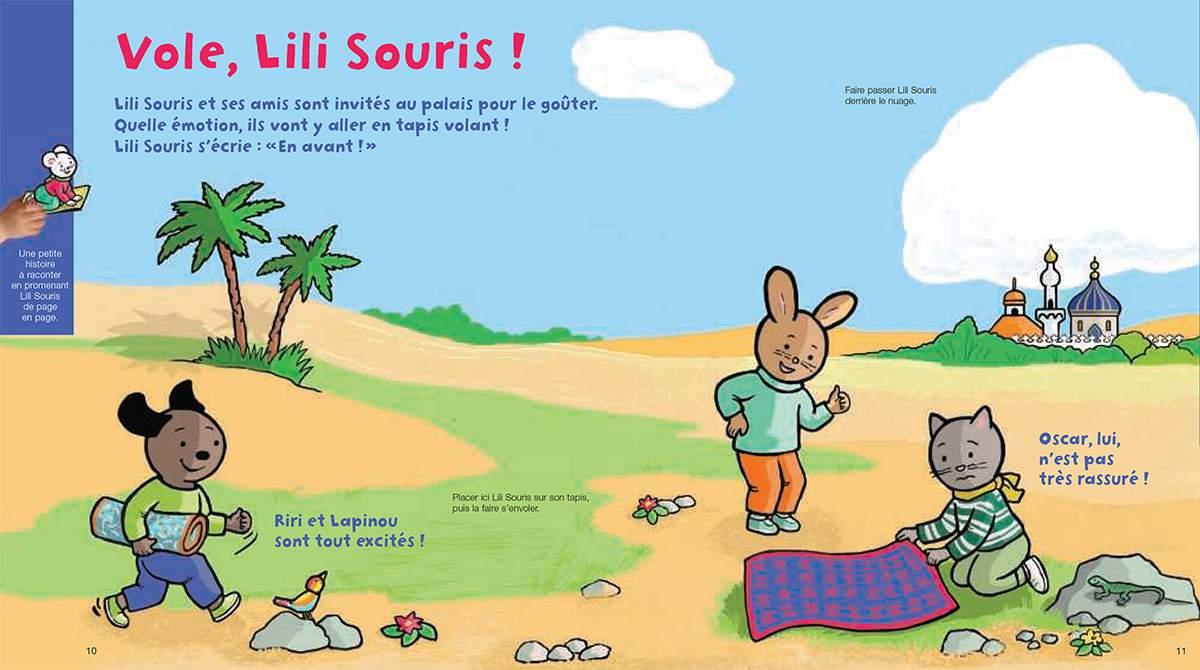 Téléchargez Lili Souris sur son tapis volant. Illustration : Anett Hardy