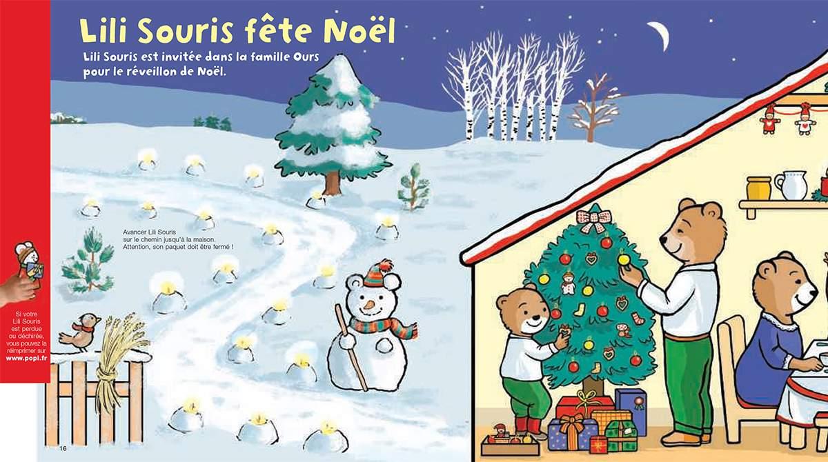 Téléchargez Lili Souris invitée au réveillon de Noël. Illustration : Anett Hardy