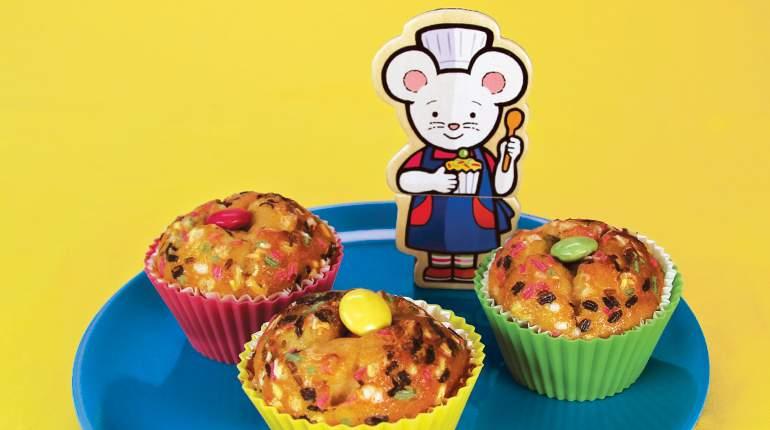 Les muffins de Lili Souris - recette pour enfant. Illustration : Anett Hardy