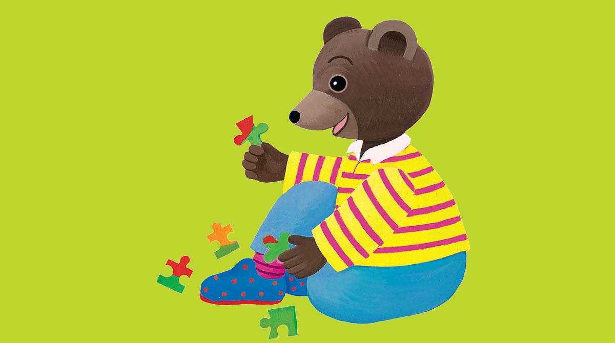 Les puzzles de Petit Ours Brun. Illustration : Danièle Bour