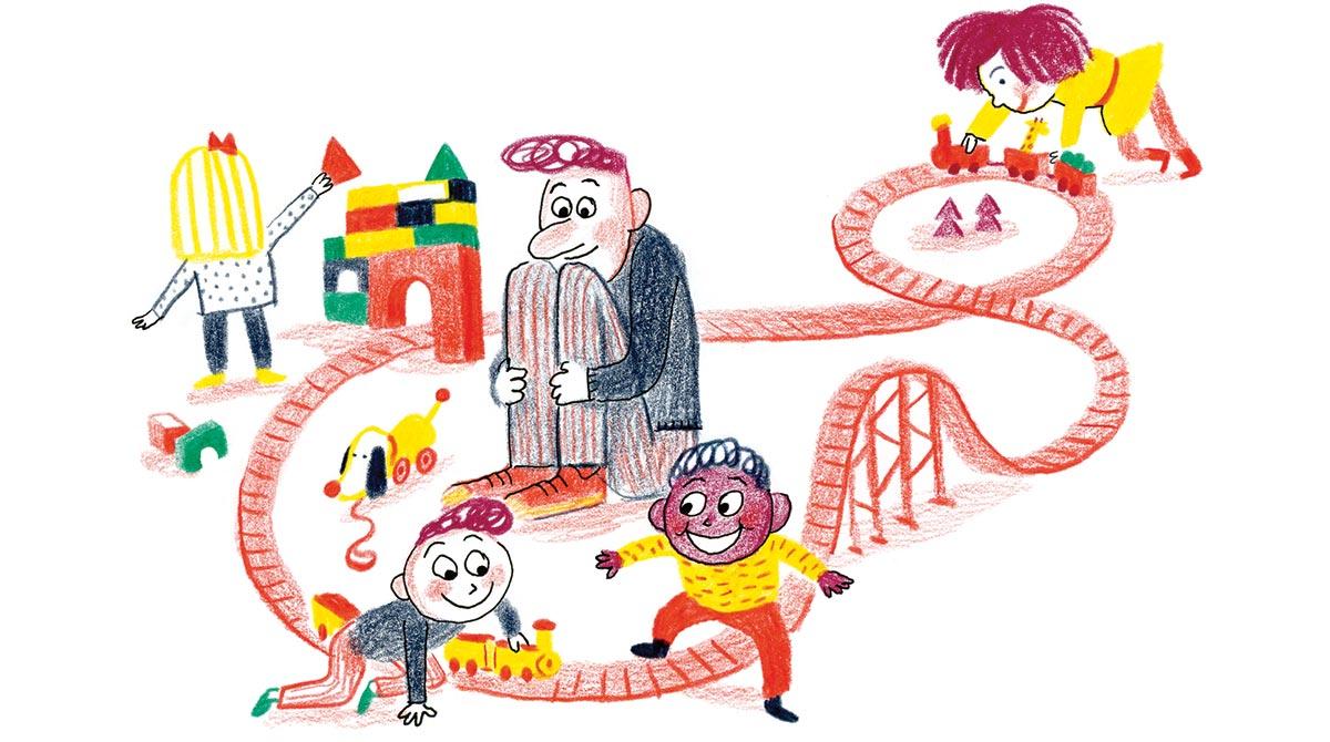 La ludothèque, un terrain de jeux à découvrir ! Illustration : Anne Rouquette