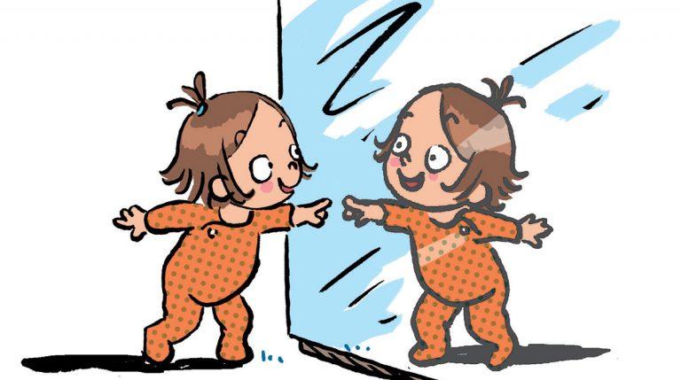 Mais qui est ce bébé dans le miroir ?