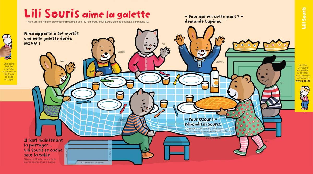 Téléchargez Lili Souris aime la galette, Popi, janvier 2018 - Illustration : Anett Hardy