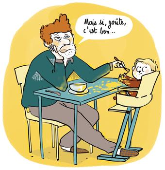 """Supplément parents Popi, mars 2018, dossier du mois : """"On a trouvé la recette du bonheur!"""" Texte : Aziliz Claquin. Illustrations: Zelda Zonk."""