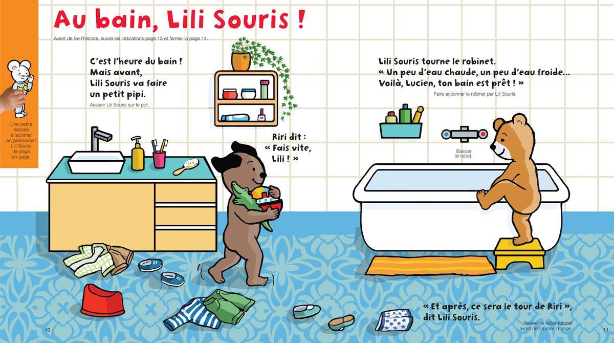Téléchargez Lili Souris et le bain, Popi, n° 382, juin 2018 - Illustration : Anett Hardy