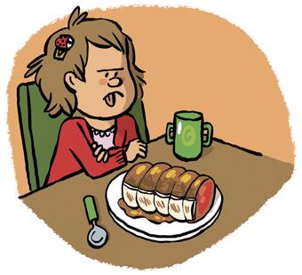 """"""" Une affaire de goût """", supplément pour les parents du magazine Popi n°386, octobre 2018. Texte : Joséphine Lebard. Illustrations : Guillaume Long."""