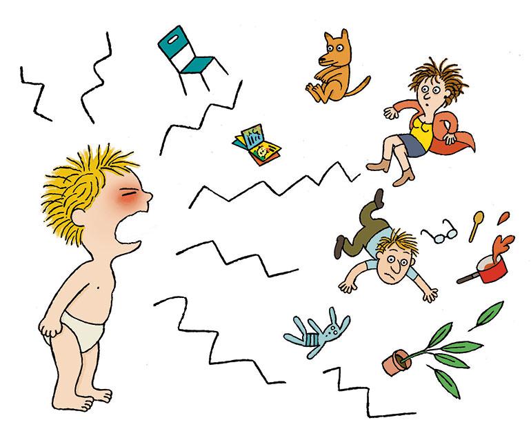 """""""Grosse colère… Que faire ?"""", Popi n°389, supplément pour les parents, janvier 2019. Texte: Adrien Bail. Illustrations : Isabelle Assémat."""