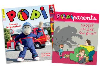 Popi n°389, janvier 2019, et son supplément pour les parents.
