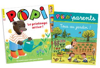 Popi n°392, avril 2019, et son supplément pour les parents.