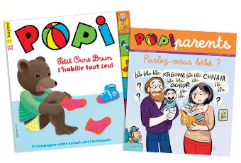 Couverture du magazine Popi n°397, septembre 2019, et son supplément pour les parents
