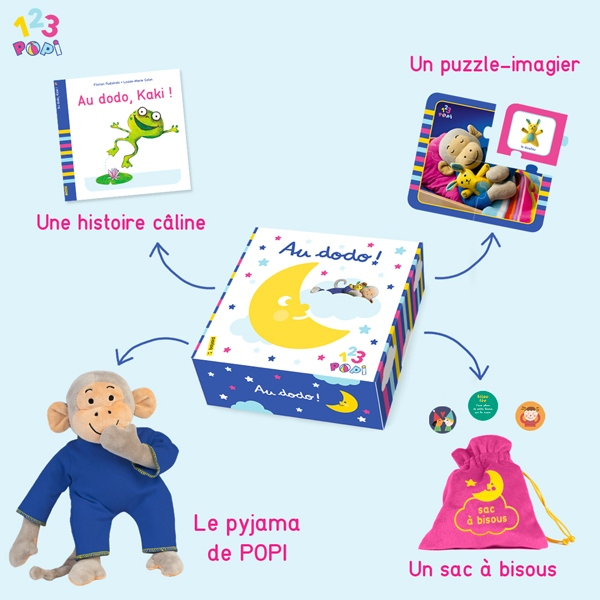 "Box ""1,2,3 Popi !"" : ""Au dodo !"""
