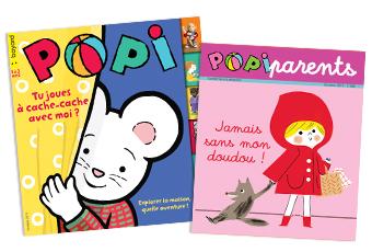 Couverture du magazine Popi n°398, octobre 2019, et son supplément pour les parents