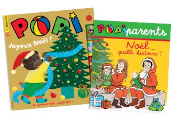 Couverture du magazine Popi n°400, décembre 2019, et son supplément pour les parents