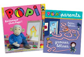 Couverture du magazine Popi n°401, janvier 2020, et son supplément pour les parents
