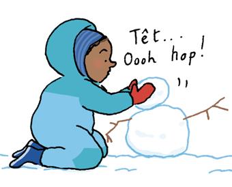 """""""Sa première neige : le plein d'émotions"""", supplément pour les parents du magazine Popi n°402, février 2020. Texte : Joséphine Lebard. Illustrations : Juliette Baily."""
