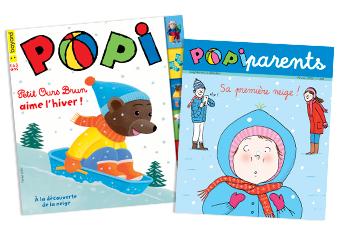 Couverture du magazine Popi n°402, février 2020, et son supplément pour les parents