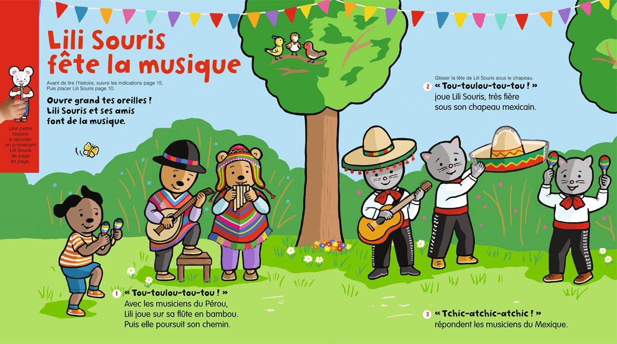 """Téléchargez """"Lili Souris fête la musique"""" - Popi, n°406, juin 2020 - Illustrations : Anett Hardy"""