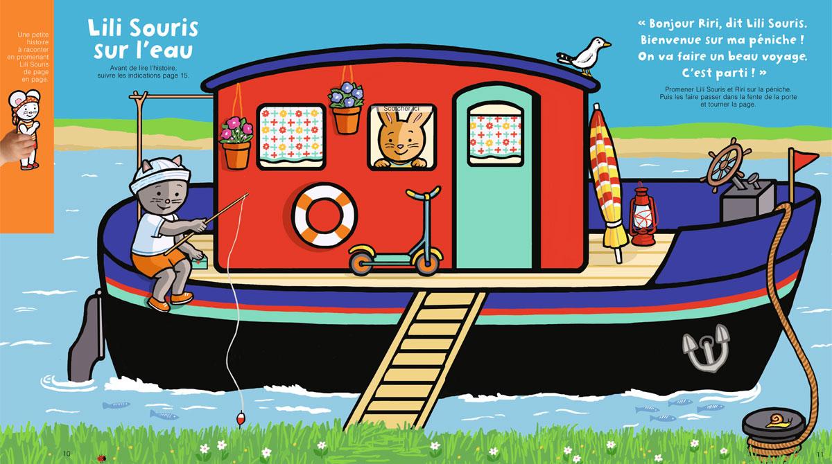 """Téléchargez """"Lili Souris sur l'eau"""" - Popi, n°408, août 2020 - Illustrations : Anett Hardy"""