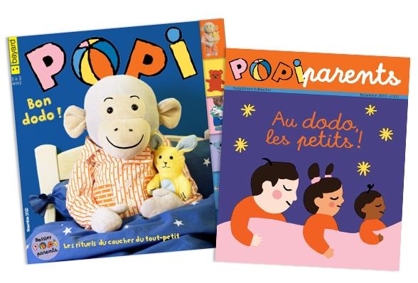 Couverture du magazine Popi n°411, novembre 2020, et son supplément pour les parents
