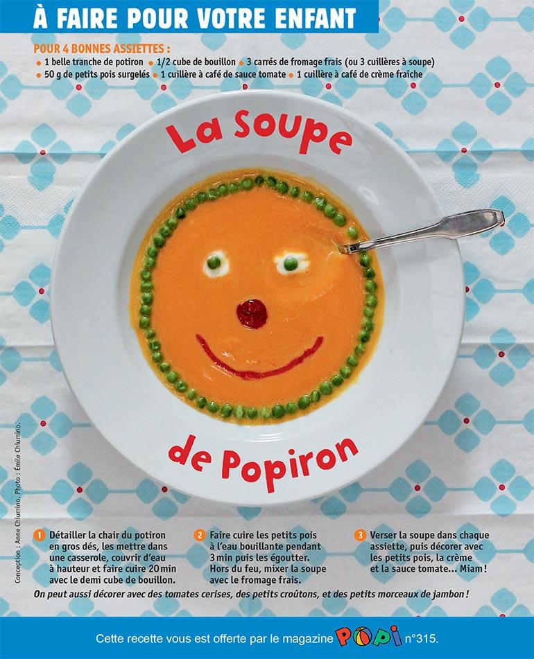 """""""Soupe de Popiron"""", supplément pour les parents du magazine Popi n°315, novembre 2012. Conception : Anne Chiumino. Phot o: Émile Chiumino."""