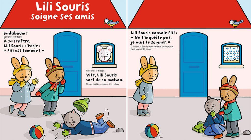 """Téléchargez """"Lili Souris soigne ses amis"""" - Popi, n°413, janvier 2021 - Illustrations : Anett Hardy"""