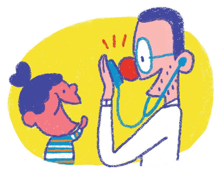 """""""Allô, parents bobo!"""", supplément pour les parents du magazine Popin°413, janvier2021. Texte: Joséphine Lebard. Illustrations: Océane Meklemberg."""