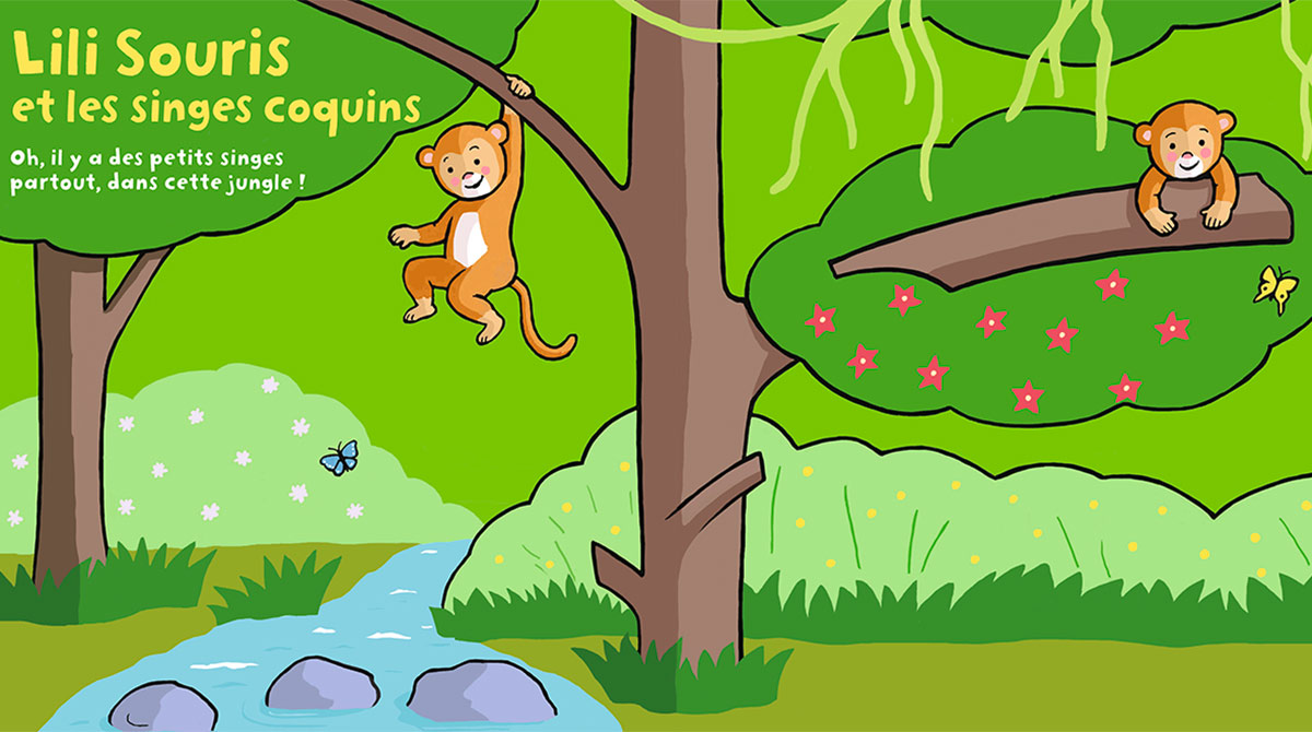 """Téléchargez """"Lili Souris et les singes coquins"""" - Popi, n°416, avril 2021 - Illustrations : Anett Hardy"""