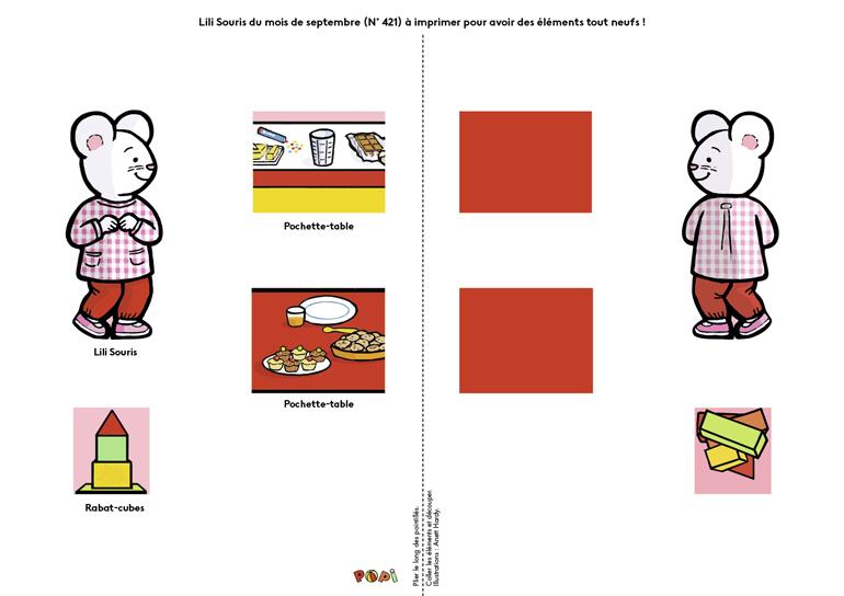 """""""Lili Souris à la maison des jeux"""" - Popi, n°421, septembre 2021 - Illustrations : Anett Hardy."""