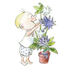 Marcel, Popi n°420. Marcel peint des fleurs.