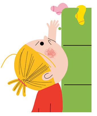 C'est moi qui fais ! Pour s'occuper des vêtements. Illustrations: Sophie Bouxom.