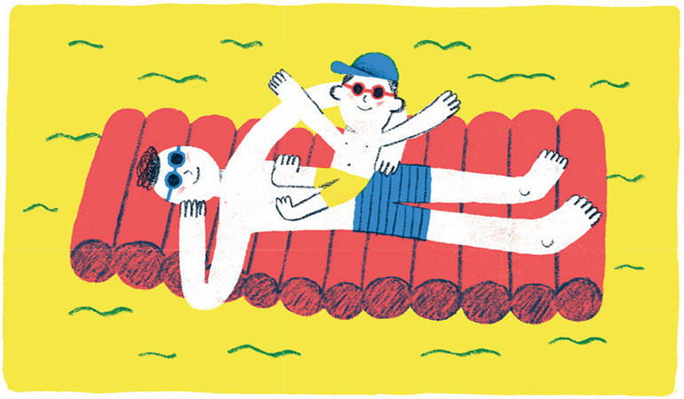 Les bienfaits du soleil. Illustration : Pablo Luebert.